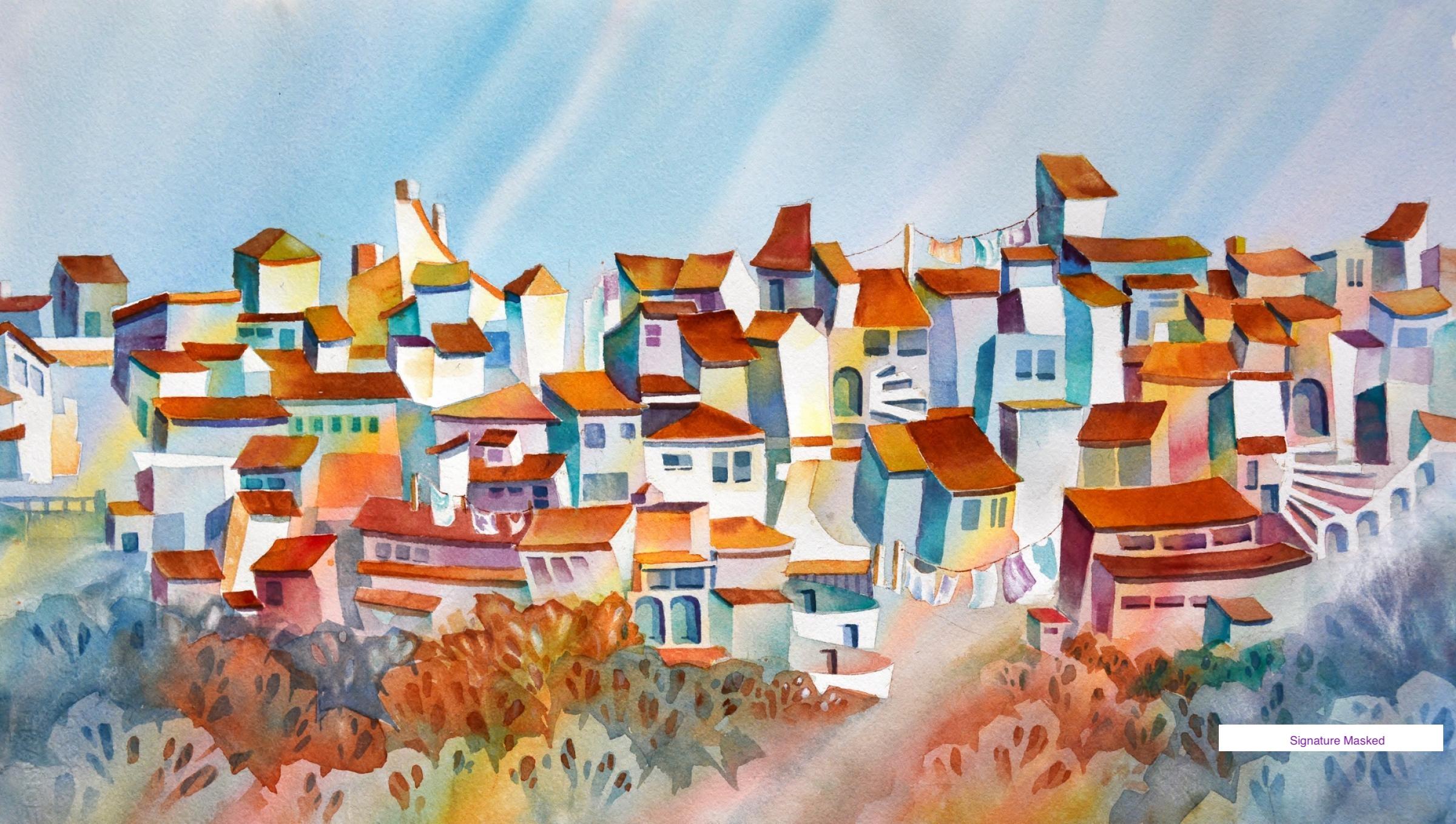 Andalucian Village, Spain by Nancy Newman