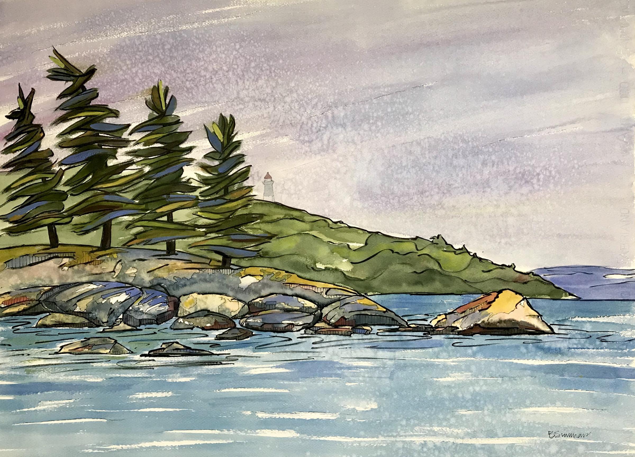 Beausoleil Island Lighthouse by Barbara Simmons