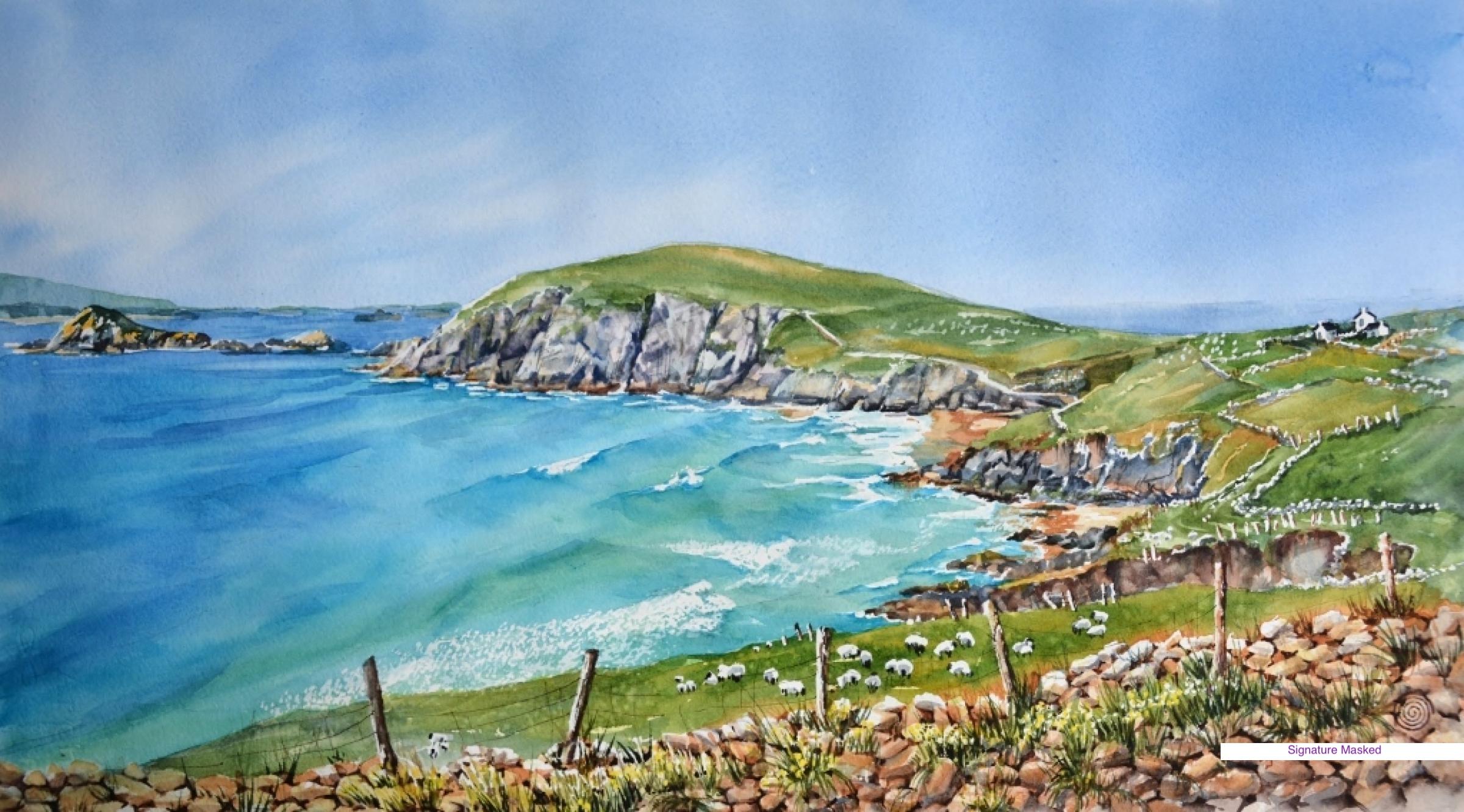 Courmeenoole Beach, Ireland by Nancy Newman