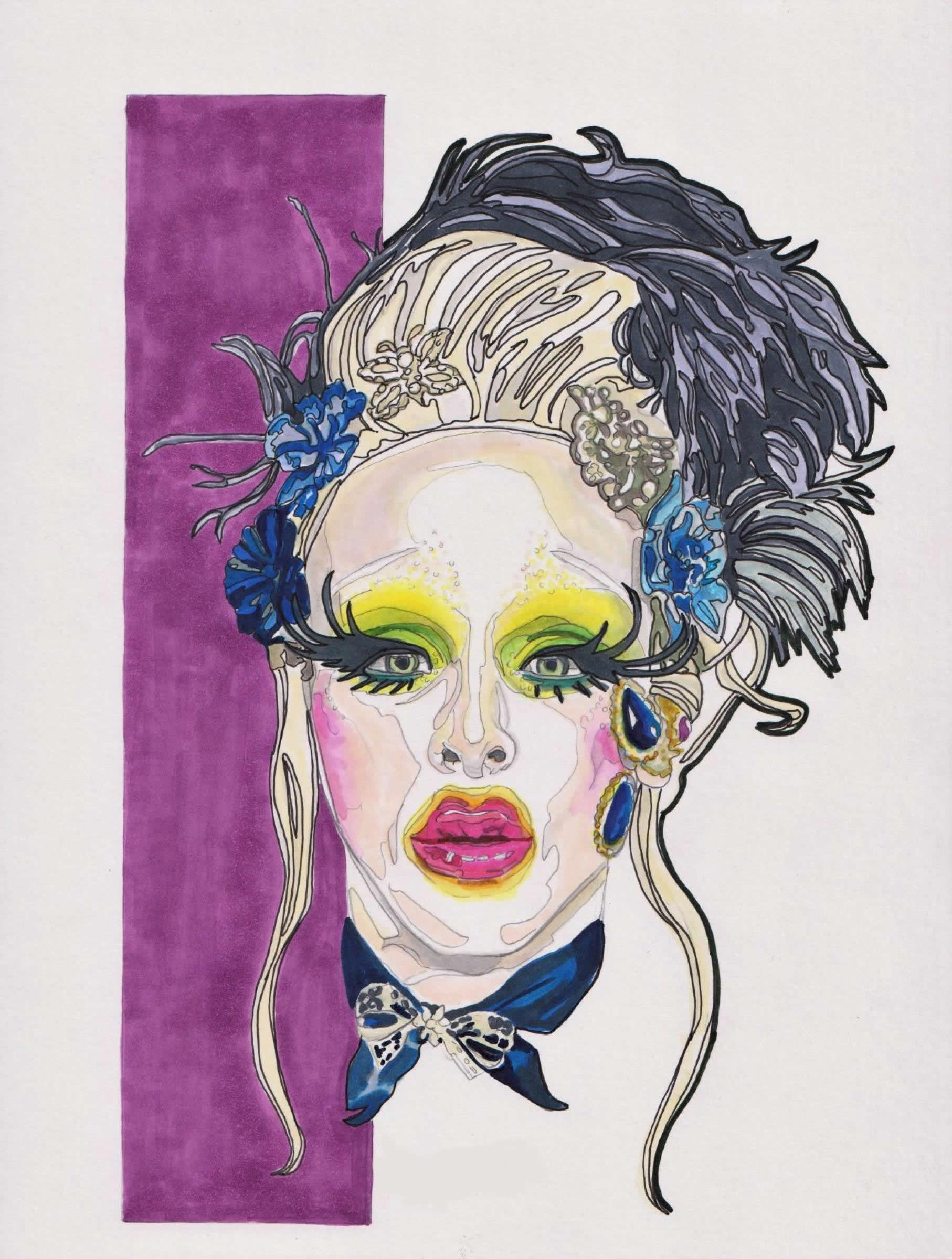 Portrait of Drag Queen Imp Kid by Colleen Thompson