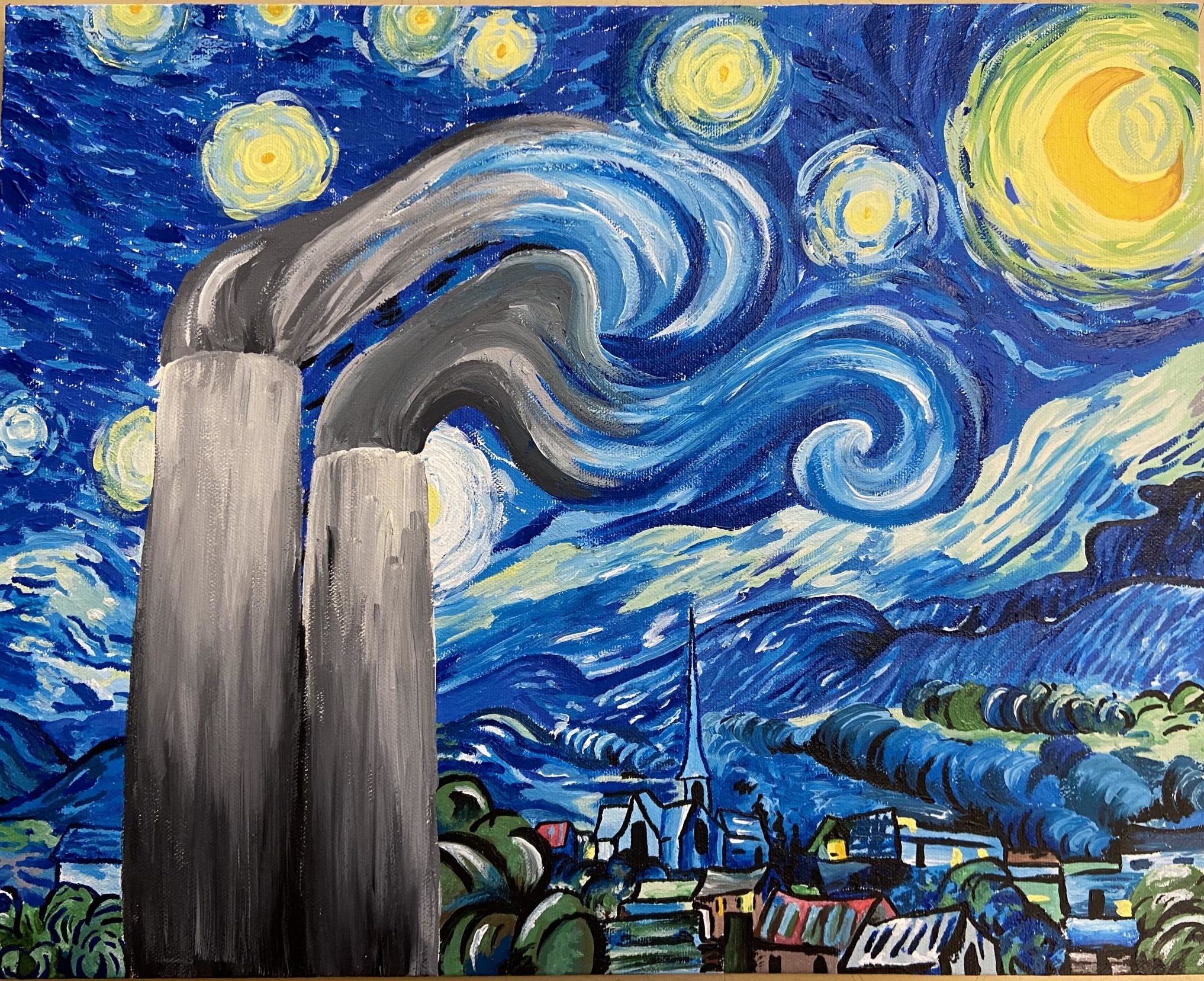 Starry Night In The 21st Century by Paige Trundou