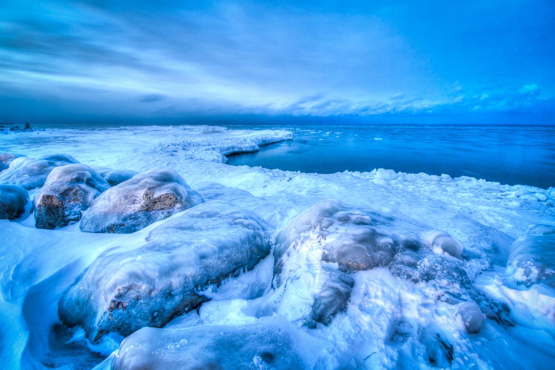 Deep Freeze Blues on Georgian Bay by Eden Watt