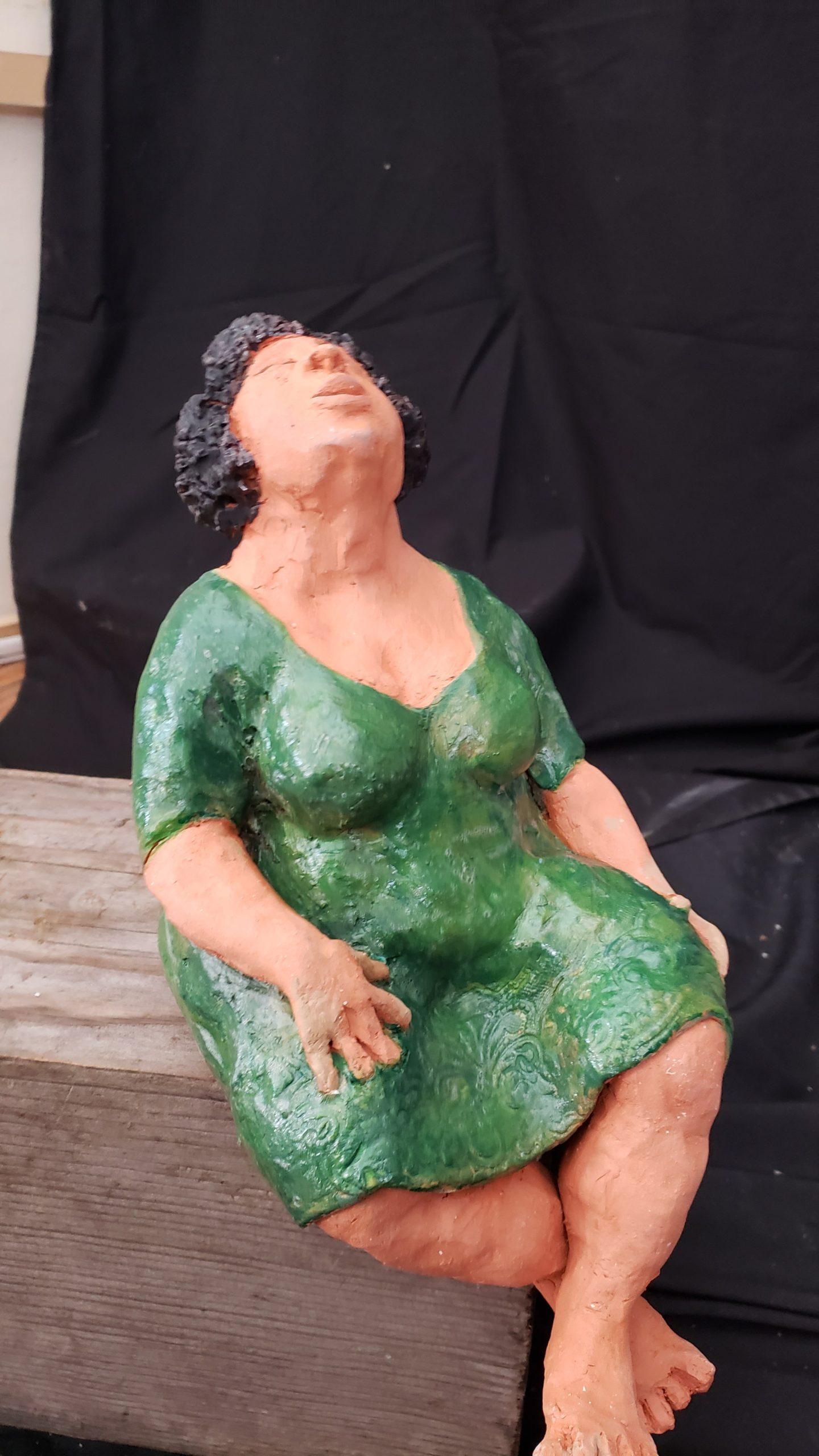 Woman in Green Dress by Marion Bartlett