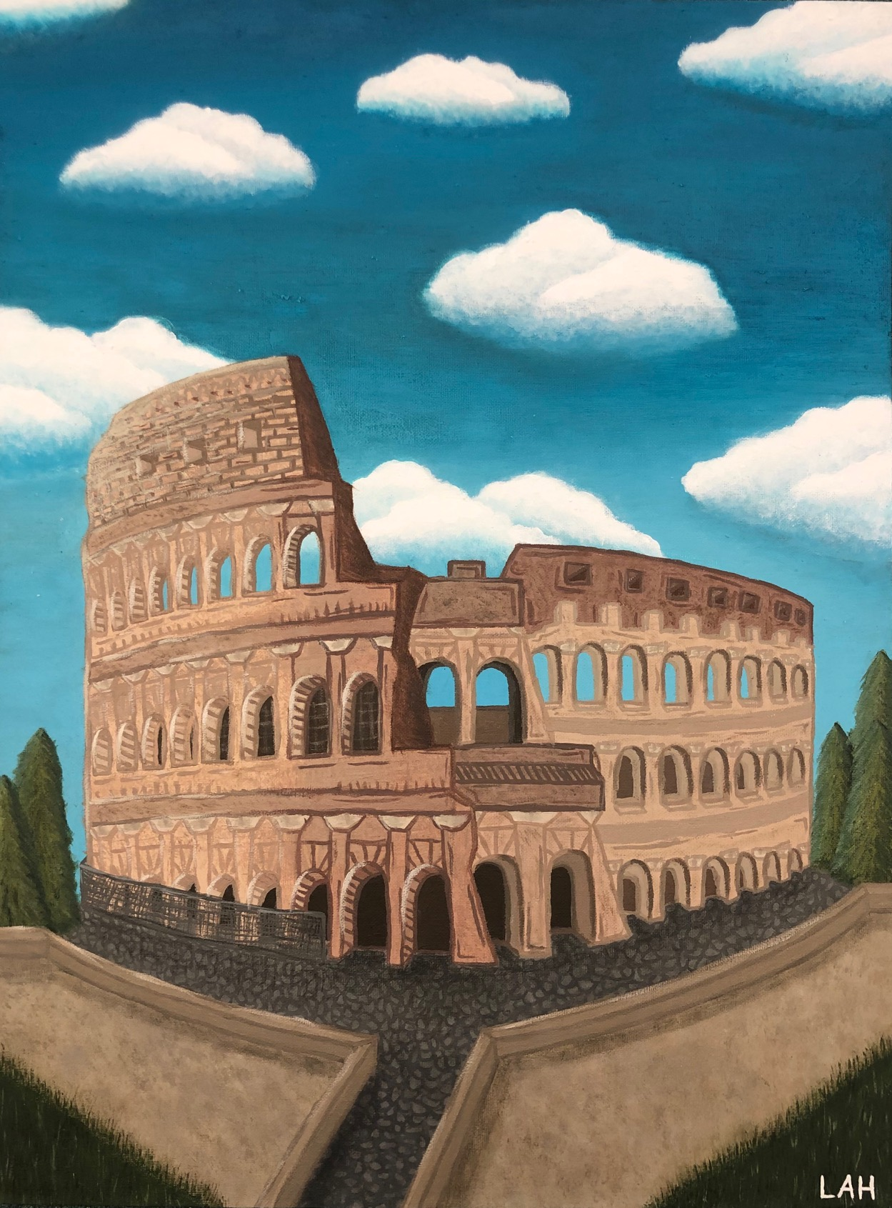 The Ancient Walls of Rome by Livia Aguiar-Hawksby