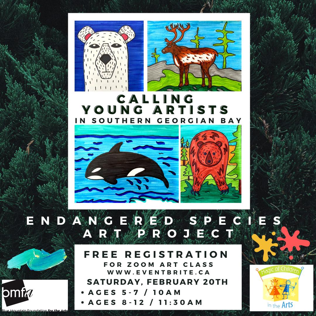 Kids Endangered Species Art Project