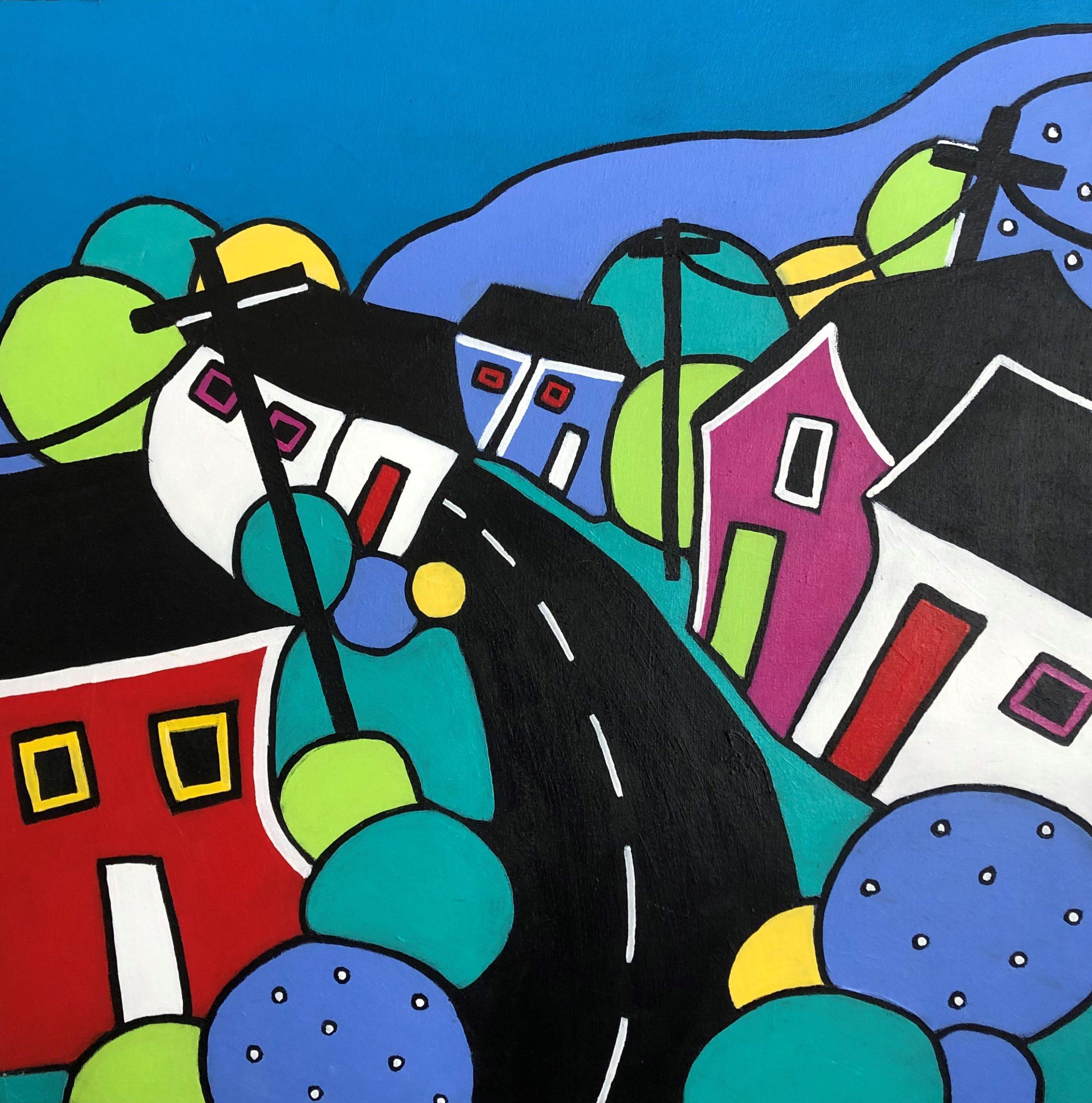 Village Drive by Jill K Scott
