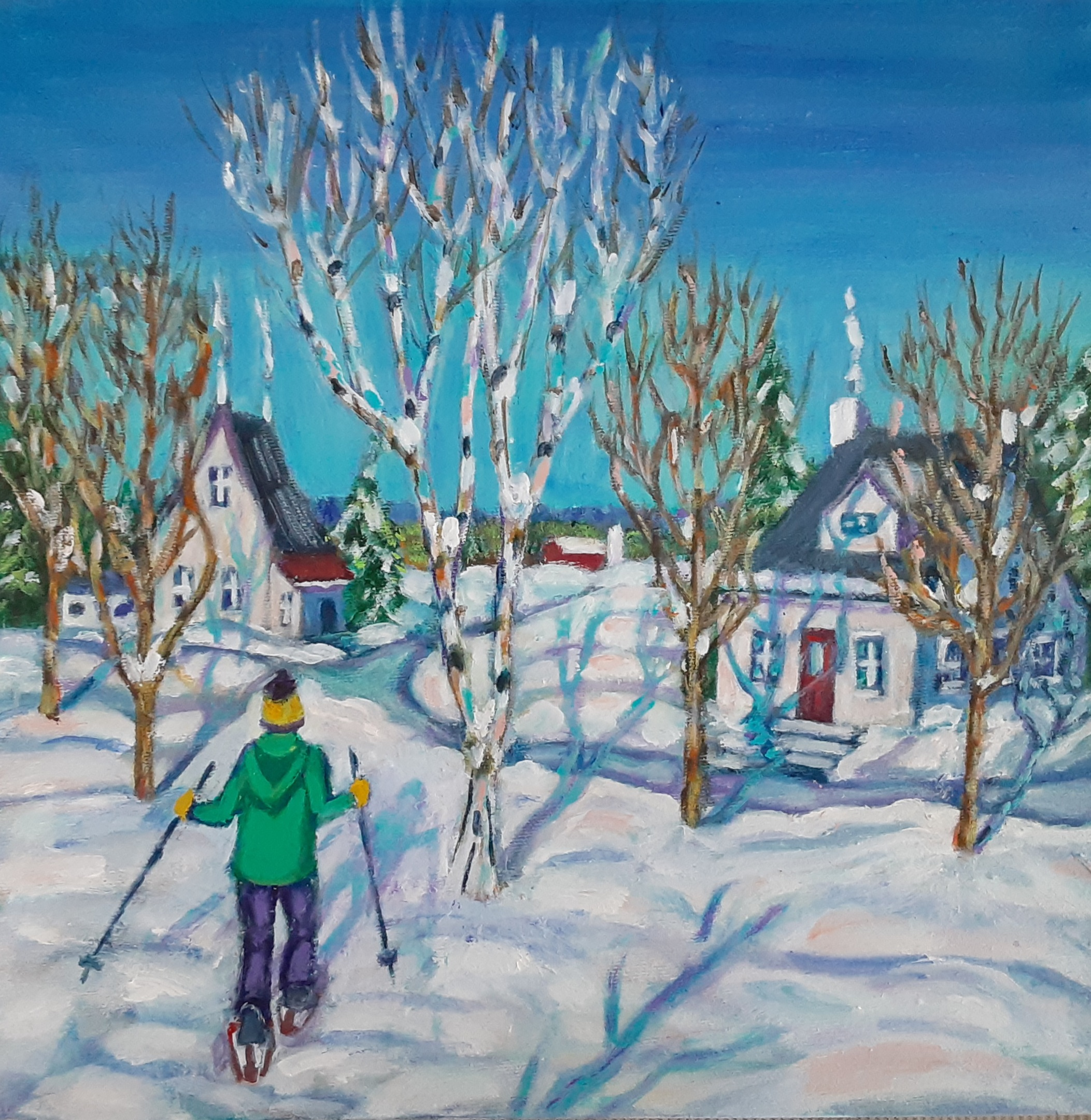 Sun and Snowshows by Mary Linda Tait