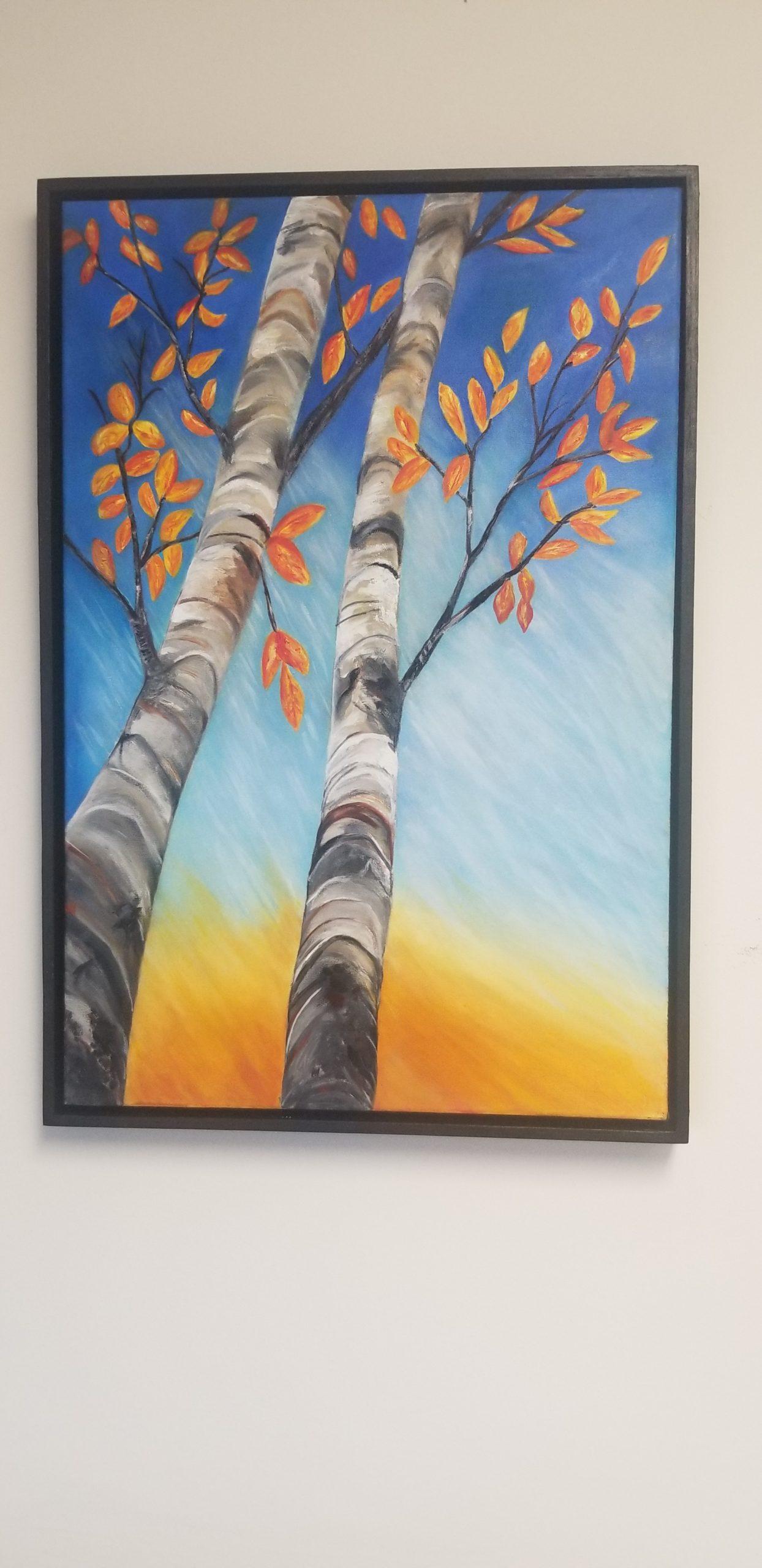 Birch trees by Mary MacDonald