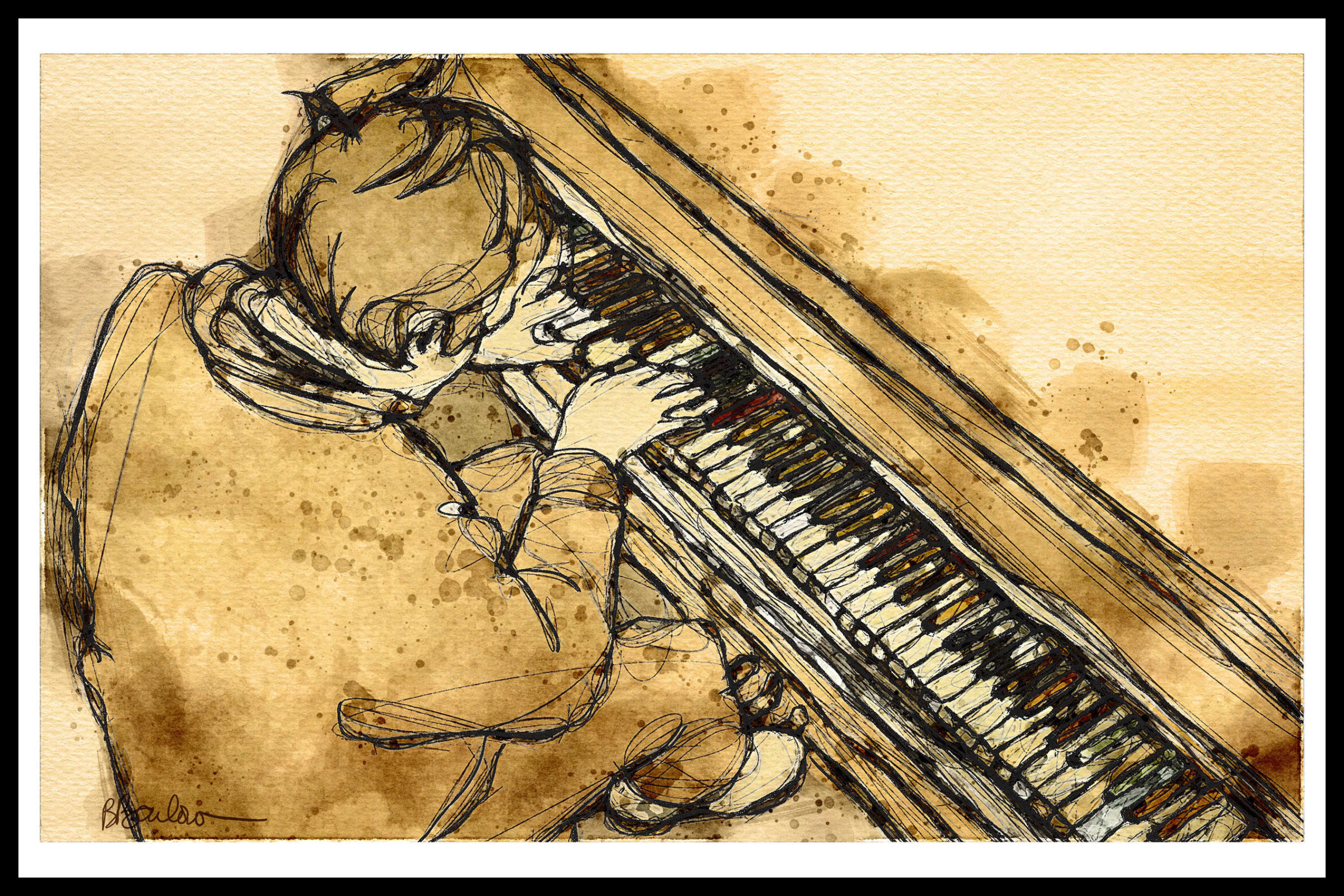 Piano Player by Bill Barlow
