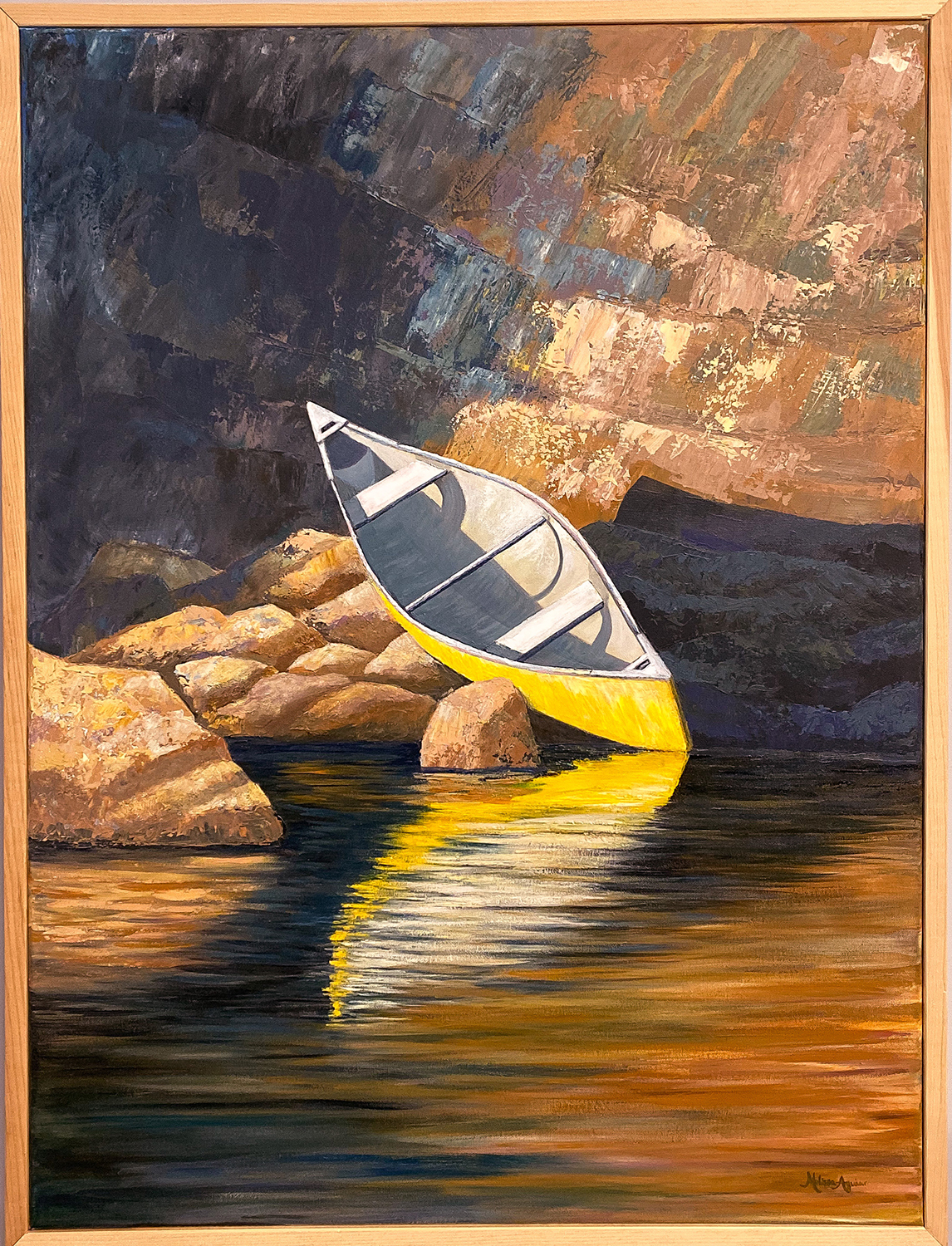 Yellow Canoe in Ontario by Melissa Aguiar