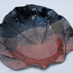 Russet Rhubarb Leaf Bowl