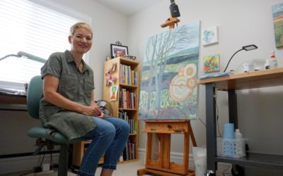 Collingwood Today: Parkinson's diagnosis pushes Collingwood artist to find creative voice