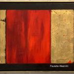 """""""Alchemy""""  28"""" x 20"""" – Acrylic on Canvas/gold leaf – $650.00"""